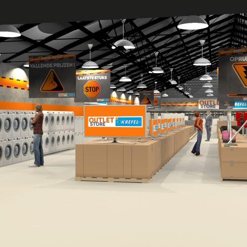 Krëfel Outlet Store - Wetteren 3D