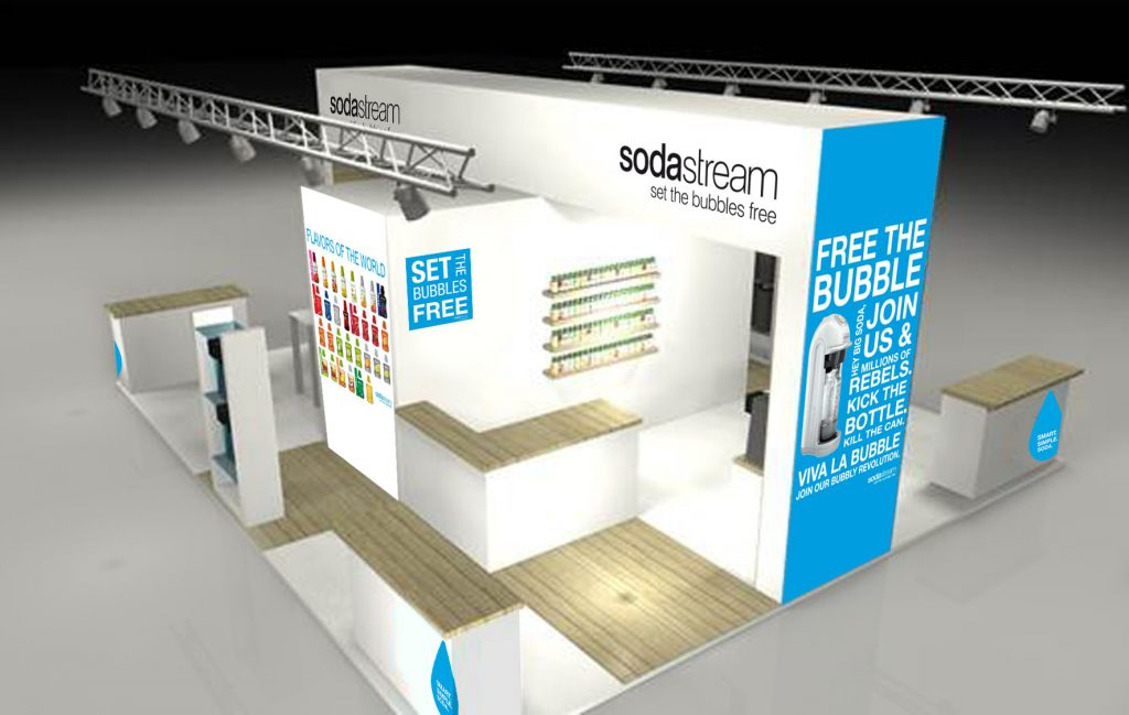SodaStream - Habillage stand 3D