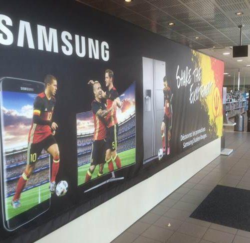 Krëfel Waremme - Action Samsung - Mur d'entrée
