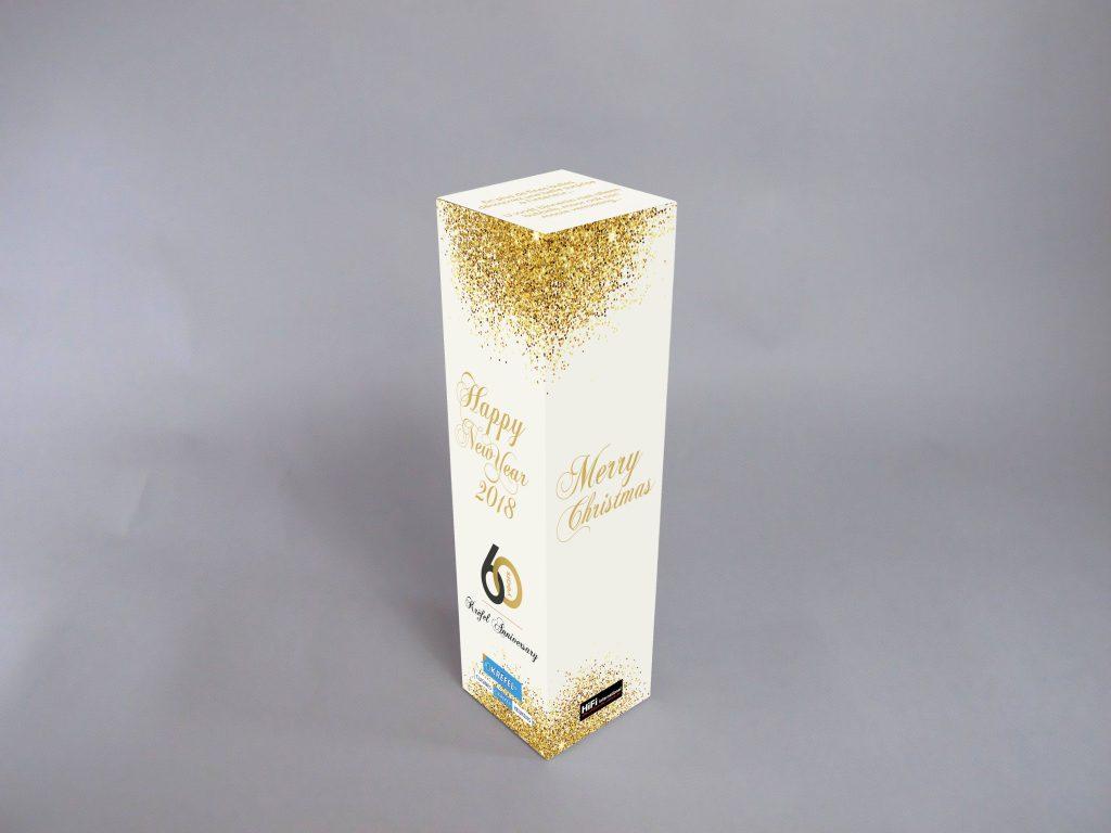 KRËFEL Boîte Bouteille de Champagne - montage 3D avant impression